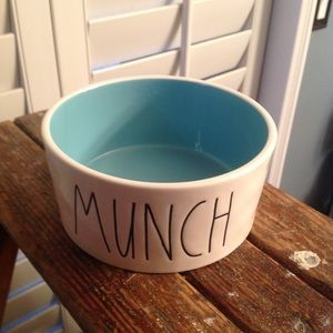 Rae Dunn MUNCH Dog Bowl